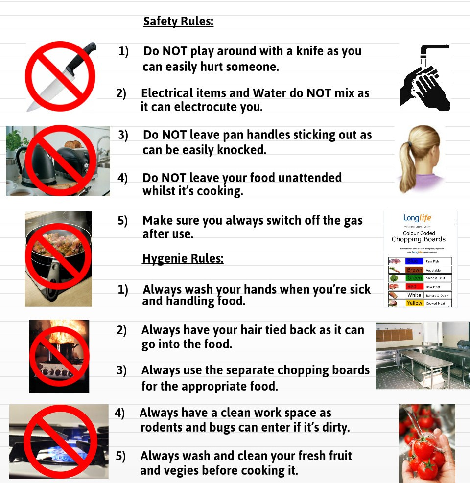 Do These When You Are In The Kitchen Safety Rules